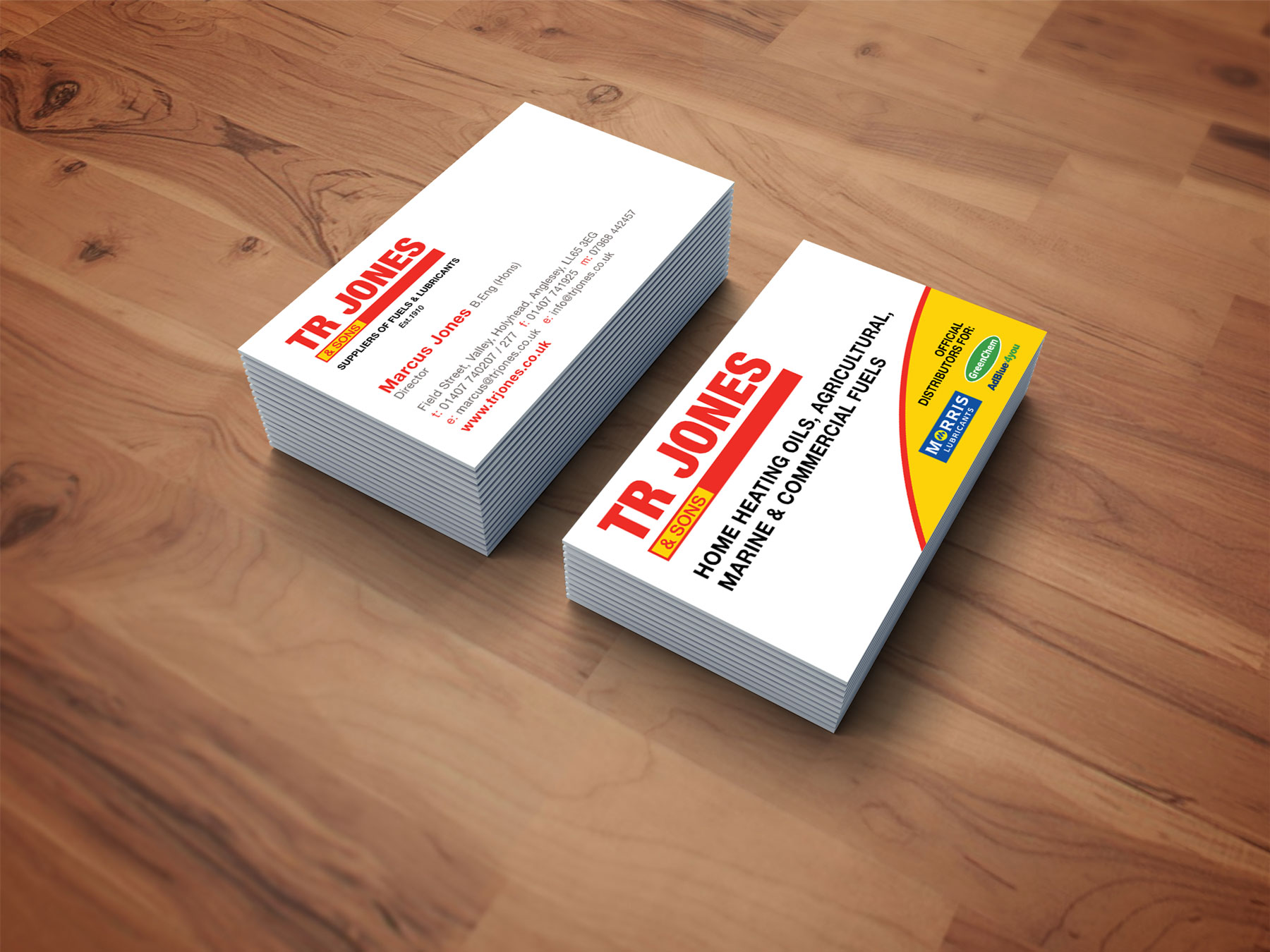 Owensutton graphic and web design anglesey tr jones sons business cards magicingreecefo Gallery